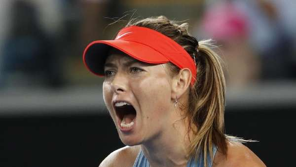 Video Aksi Sharapova Taklukkan Wozniacki