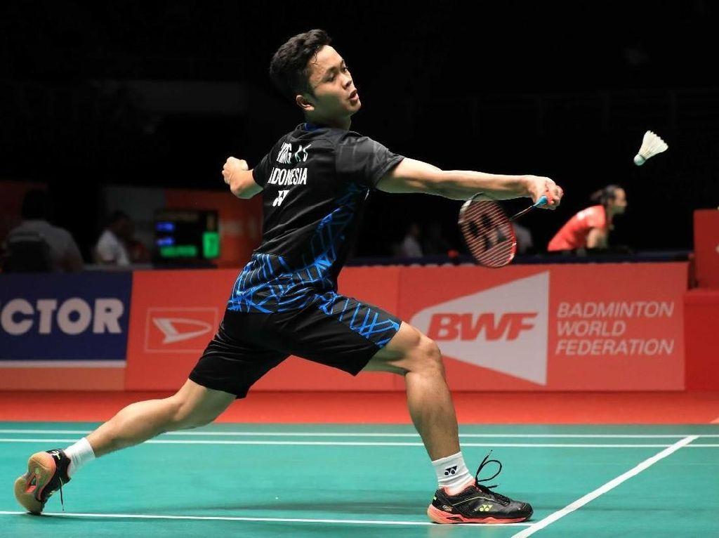 Anthony Hadapi Chen Long di Perempatfinal, Fajar/Rian Tumbang