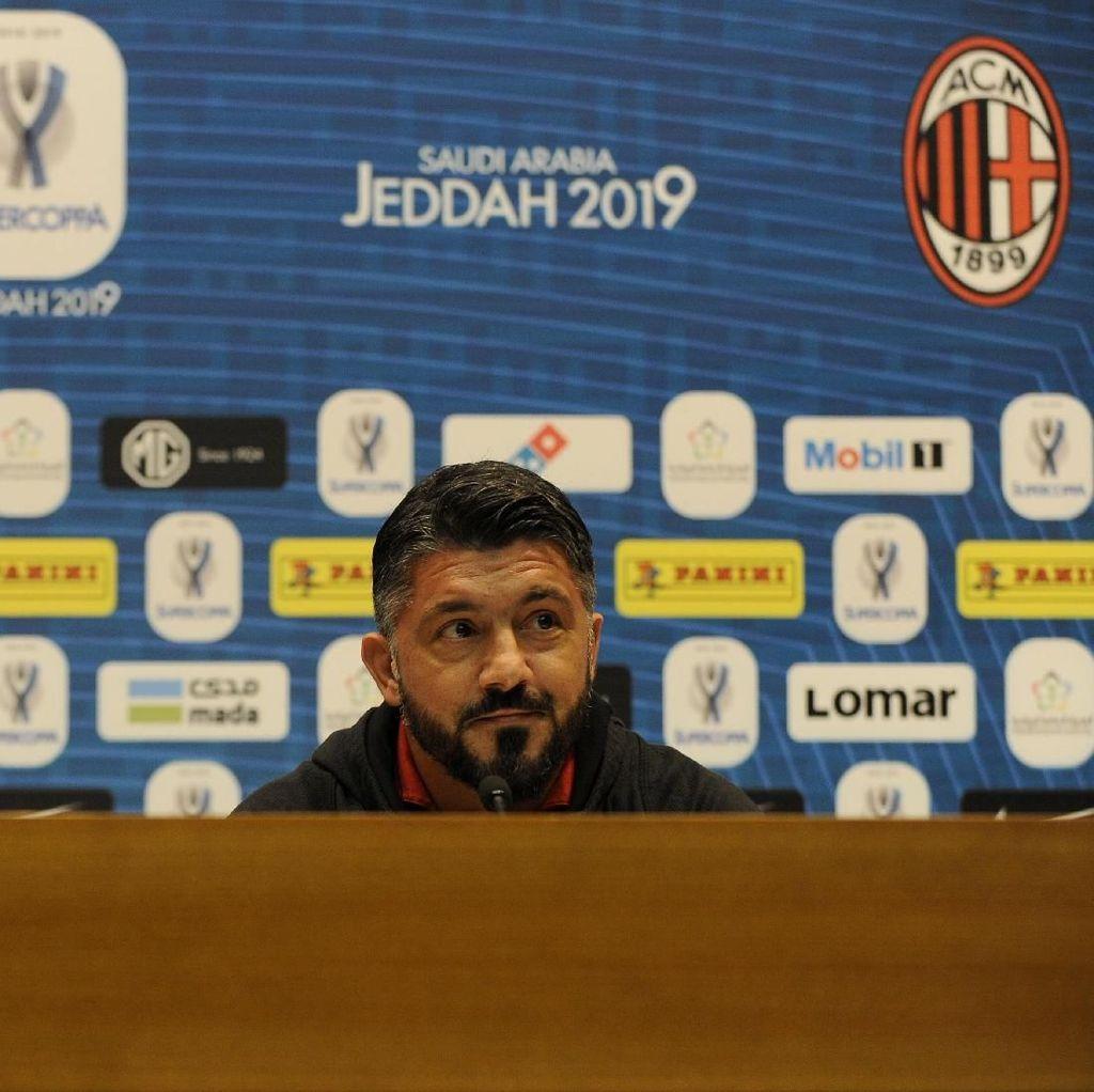 Milan Hadapi Superioritas Juve, Gattuso: Tim Terkuat Belum Tentu Menang