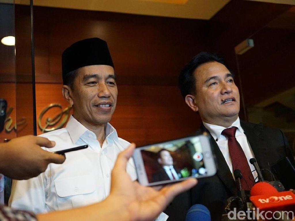 Usai Pemantapan Debat dengan Yusril, Jokowi: Mantul!