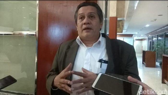 Gusti Randa meralat statusnya sebagai plt ketua umum PSSI. (Mercy Raya/detikSport)