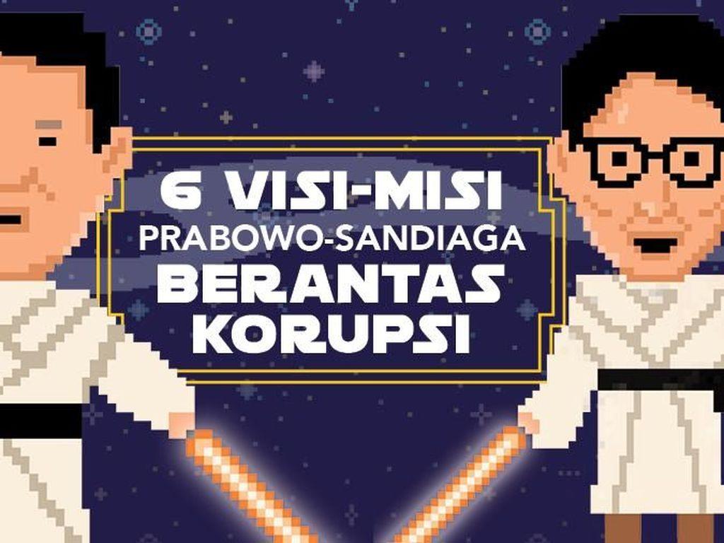6 Langkah Prabowo - Sandi Berantas Korupsi