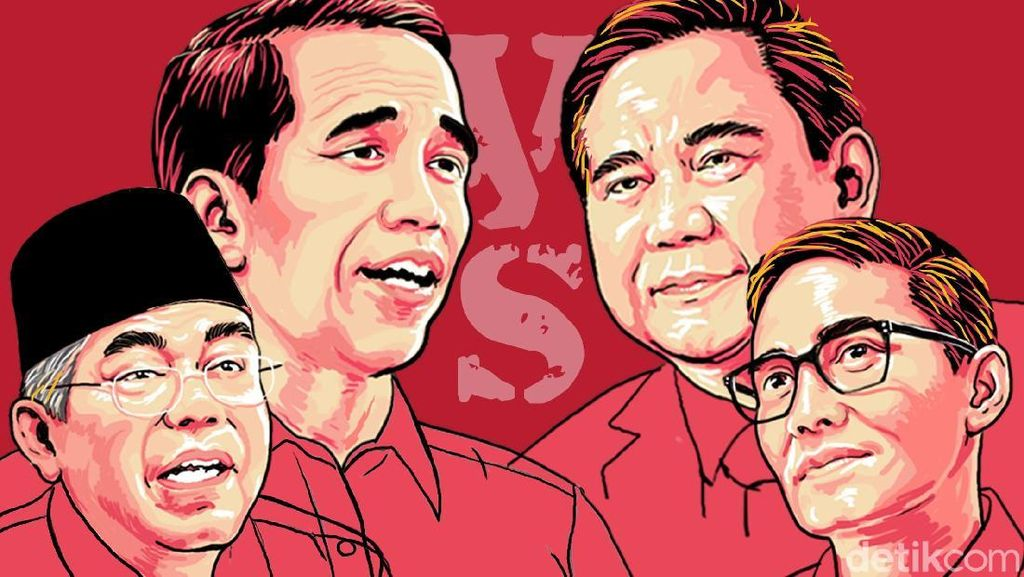 Kostum Debat: Jokowi-Maruf Putih, Prabowo-Sandi Jas Hitam