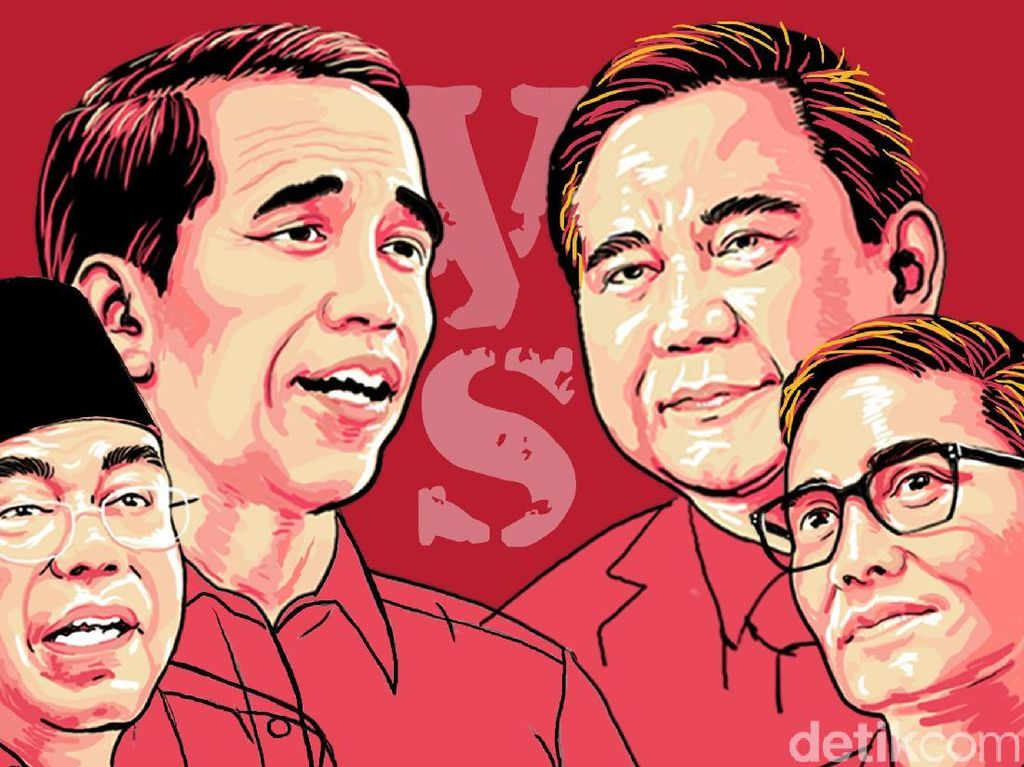 Quick Count Sementara Median: Jokowi 53,73% Prabowo 46,27%