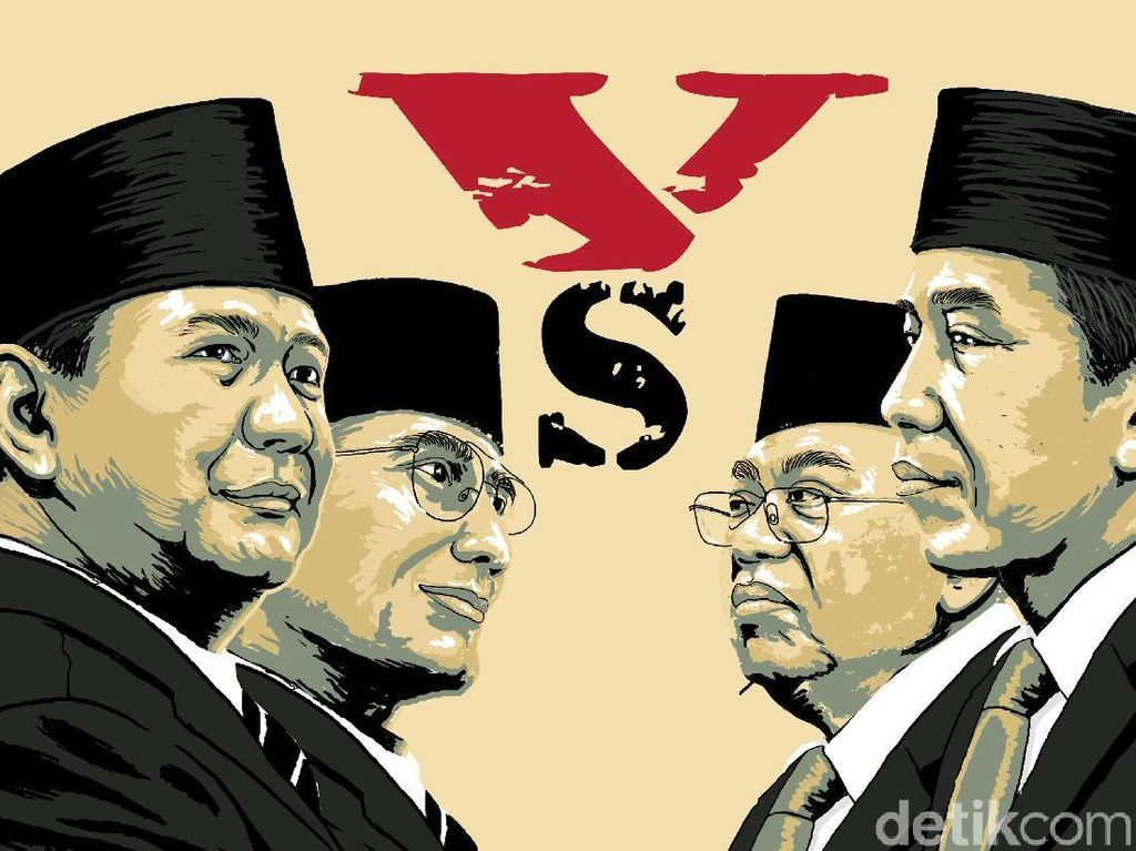 Hasil Quick Count Nyaris 100% 6 Lembaga Survei: Jokowi Unggul!