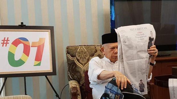 Rileks Jelang Debat, Ma'ruf Amin Bermain dengan Cucu