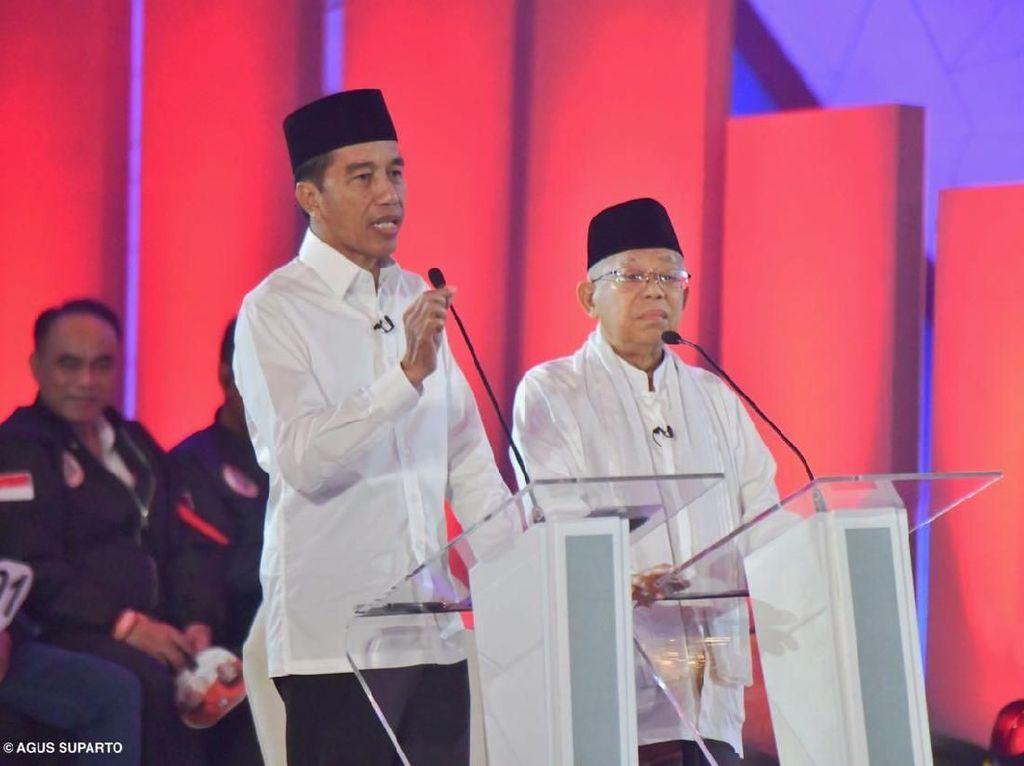 Soal Maruf di Debat, Jokowi: Diam Gimana? Terorisme Dijawab Semua