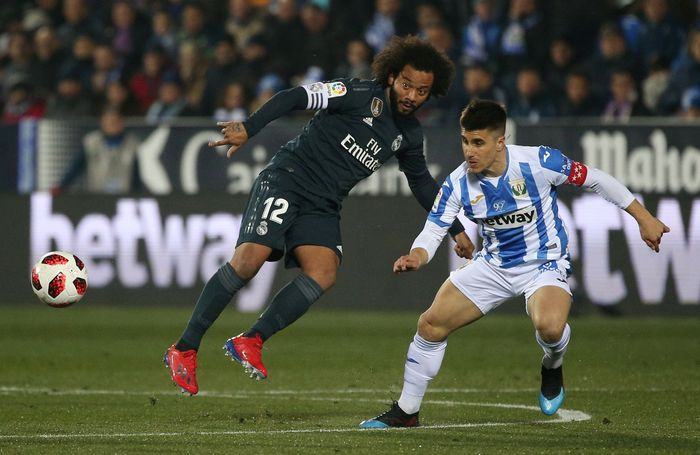 Real Madrid maju ke perempatfinal Copa del Rey, meski dikalahkan Leganes 0-1. (Foto: Javier Barbancho/ Reuters)