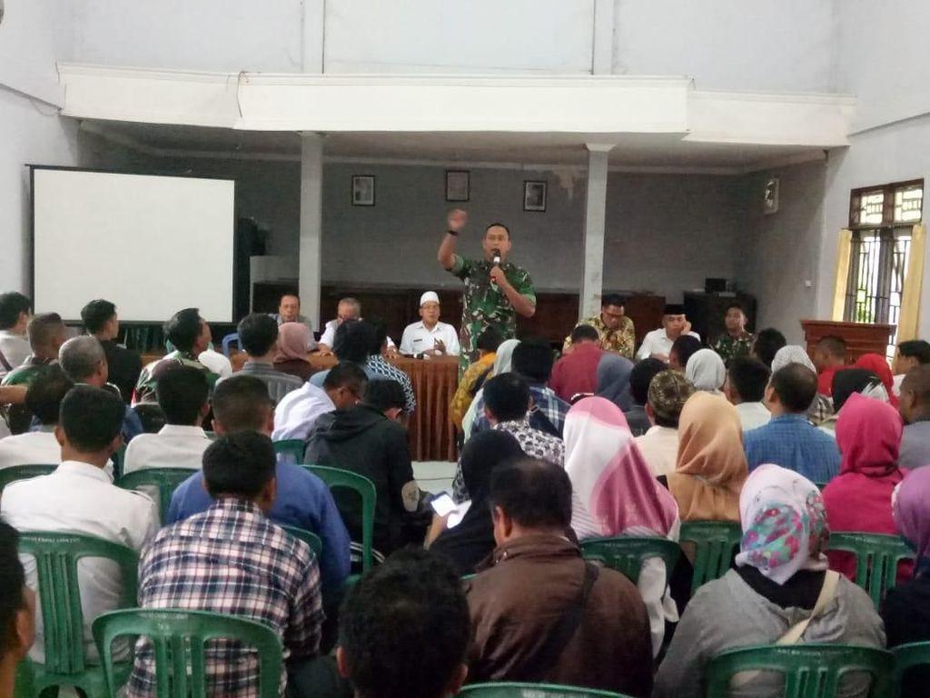 BPBD Lombok Barat Sosialisasikan Teknis Rehabilitasi Pascagempa ke Babinsa