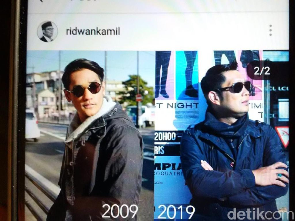 Ramaikan 10 Years Challenge, Ridwan Kamil Malah Pajang Wajah Afgan