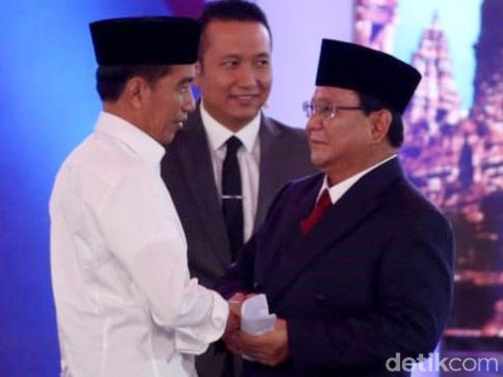 LSI Denny JA: Jokowi Menang 5-1 atas Prabowo di Debat Pilpres