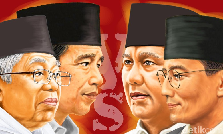Survei Indo Barometer: Jokowi-Ma'ruf 59,9% Vs Prabowo-Sandi 40,1%