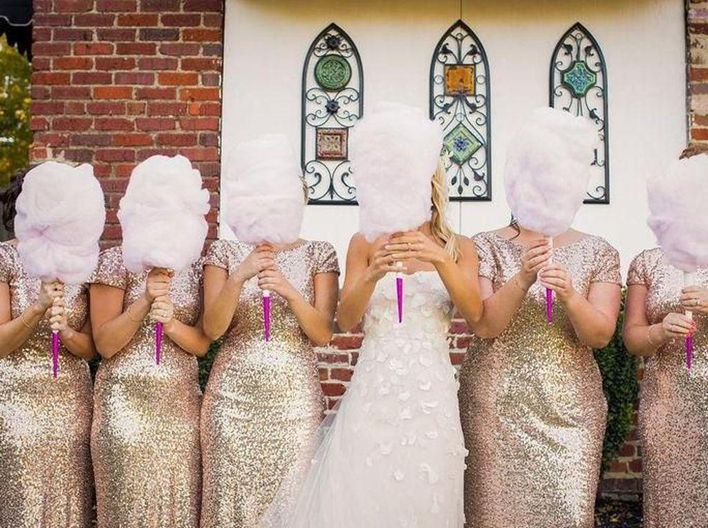 Gemasnya Buket Bunga untuk Pernikahan yang Terbuat dari Pemen Kapas