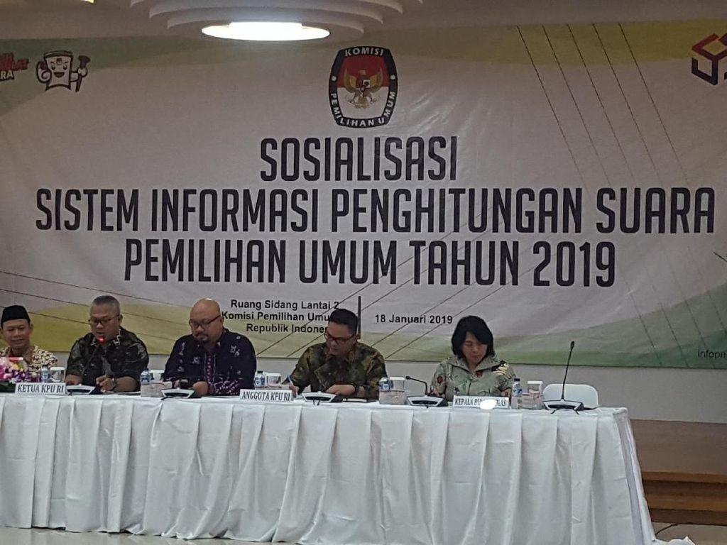 KPU Sosialisasi Sistem Hitung Suara Pemilu 2019 ke Perwakilan Capres