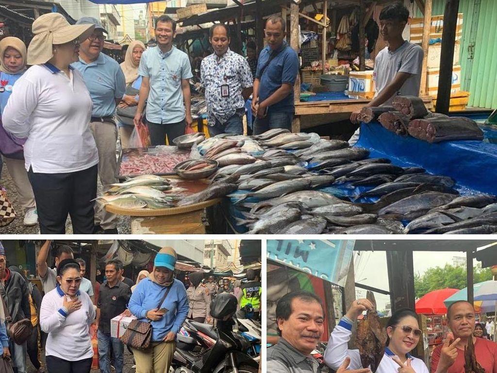 Yuk, Intip Serunya Titiek Soeharto Borong Keripik hingga Ikan Teri di Pasar!
