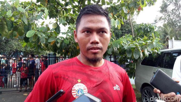 Tony Sucipto siap menjadi gelandang Persija Jakarta saat menghadapi Persela. (Foto: Amalia Dwi Septi/detikSport)