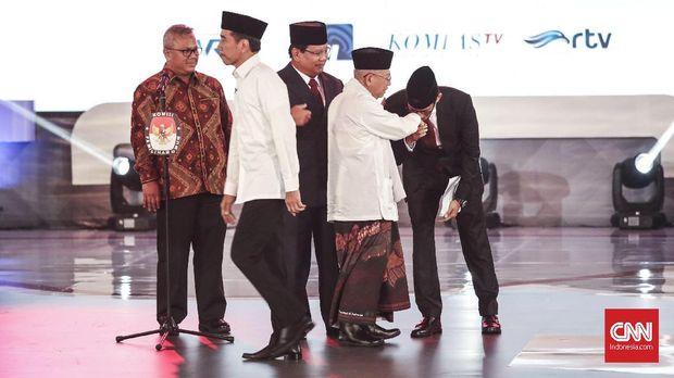 Median: Elektabilitas Jokowi dan Prabowo Selisih 1 Digit
