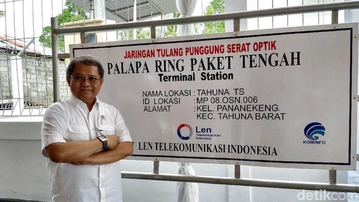 Menkominfo Rudiantara membahas peran Palapa Ring dalam menggenjot perkembangan ekonomi digital. (Foto: Agus Tri Haryanto/detikINET)