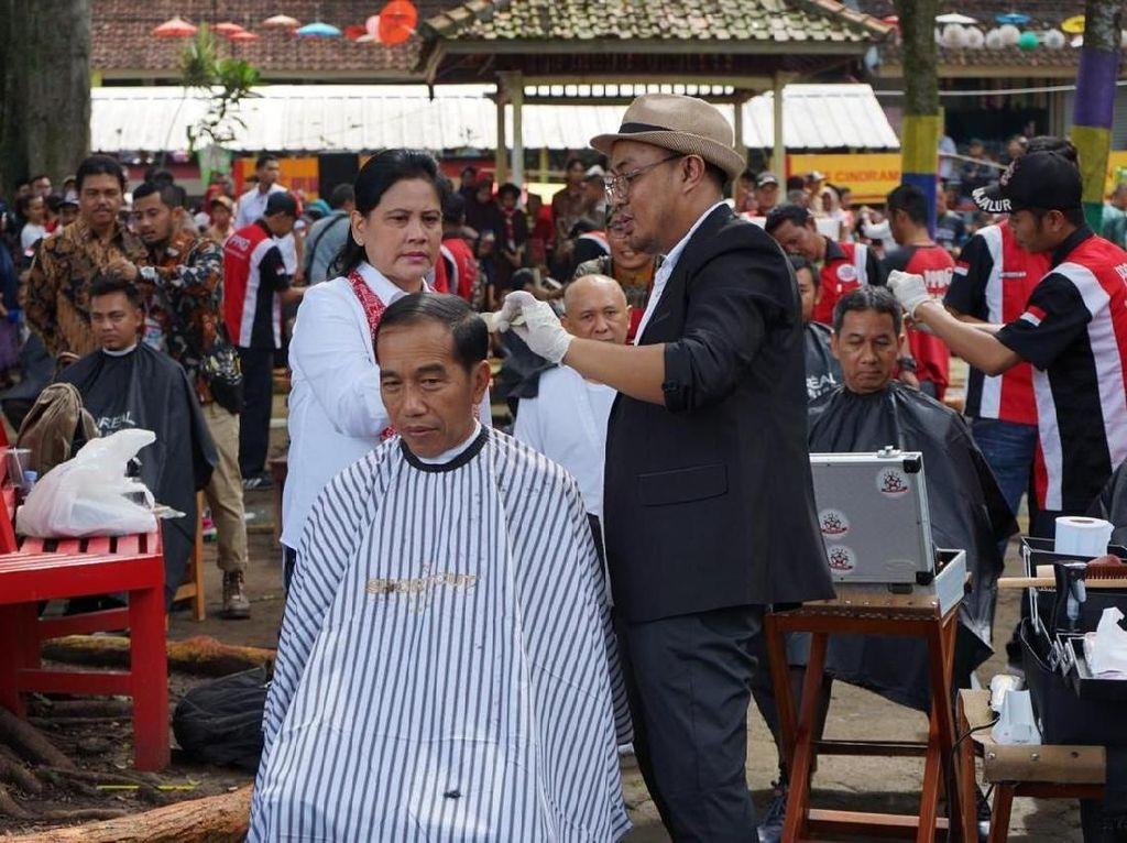 Ribut soal Jokowi Cukur Rambut di Garut