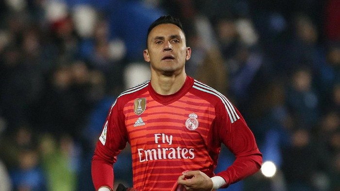 Soccer Football - Copa del Rey - Round of 16 - Second Leg - Leganes v Real Madrid - Butarque Municipal Stadium, Leganes, Spain - January 16, 2019  Real Madrids Keylor Navas during the match       REUTERS/Javier Barbancho