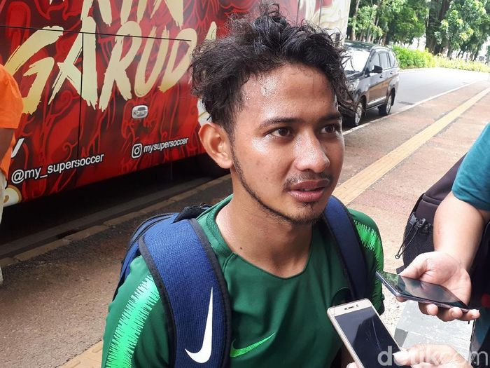 Gian Zola tak bisa memperkuat Timnas Indonesia U-23 di SEA Games 2019. (Foto: Mercy Raya/detikSport)