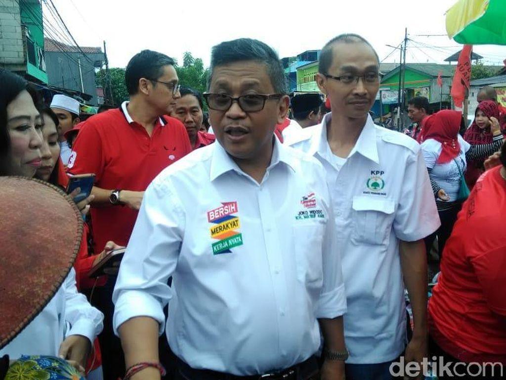 Keliling Pasar Kalimalang, Sekjen PDIP: Jokowi-Maruf Angkat Ekonomi Rakyat
