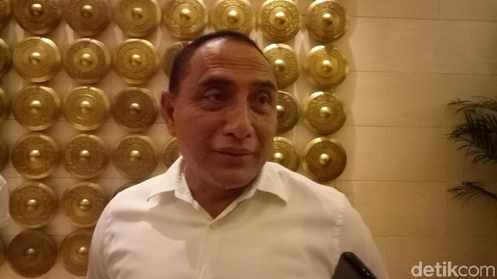 Edy Rahmayadi mundur dari ketua umum PSSI. (Randy Prastya/detikSport)