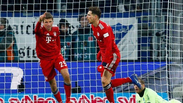 Bayern Munich memangkas jarak poin dengan Borussia Dortmund usai menang atas Hoffenheim (Foto: Ralph Orlowski/Reuters)