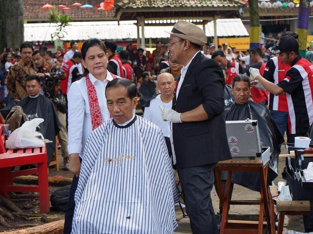 TKN Jokowi: Jokowi Cukur Rambut di Garut Bukan Pencitraan