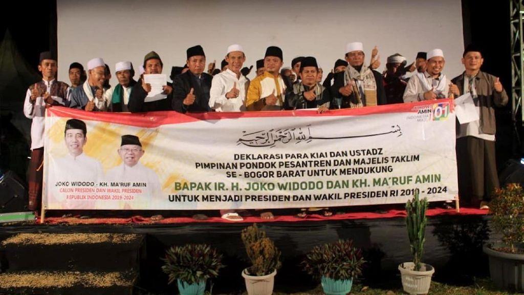 Ratusan Ulama Bogor Deklarasi Dukung Jokowi-Amin