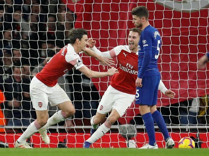 Arsenal mengalahkan Chelsea 2-0 dalam lanjutan Liga Inggris. Foto: John Sibley/Action Images via Reuters