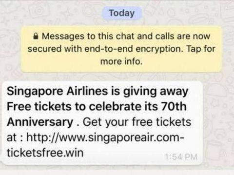 Penipuan di WhatsApp
