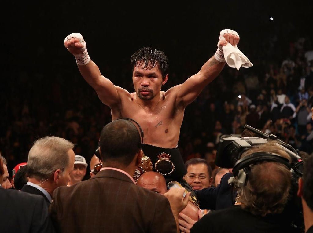 Pacquiao Serius Ajak Mayweather Jr Rematch