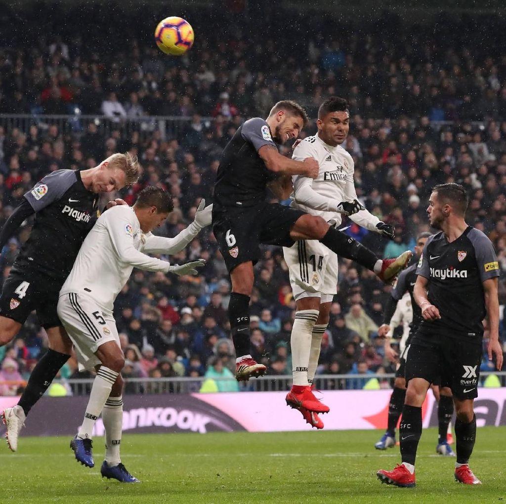 Hasil Liga Spanyol: Real Madrid Kalahkan Sevilla 2-0,Tembus Tiga Besar