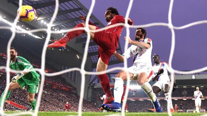 Mohamed Salah tercepat keempat mencetak 50 gol di Liga Inggris. Foto: Laurence Griffiths/Getty Images
