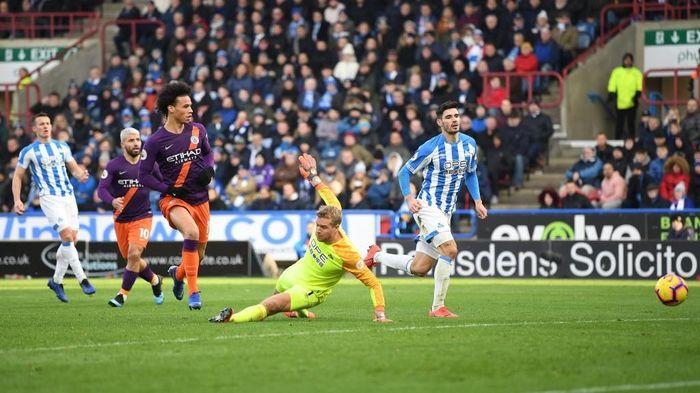 Manchester City menang 3-0 atas Huddersfield. (Foto: Michael Regan/Getty Images)