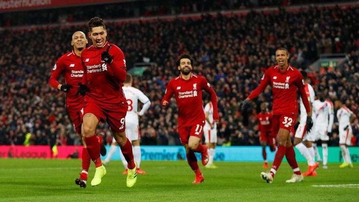 Liverpool mengalahkan Crystal Palace 4-3. Foto: Phil Noble/Reuters