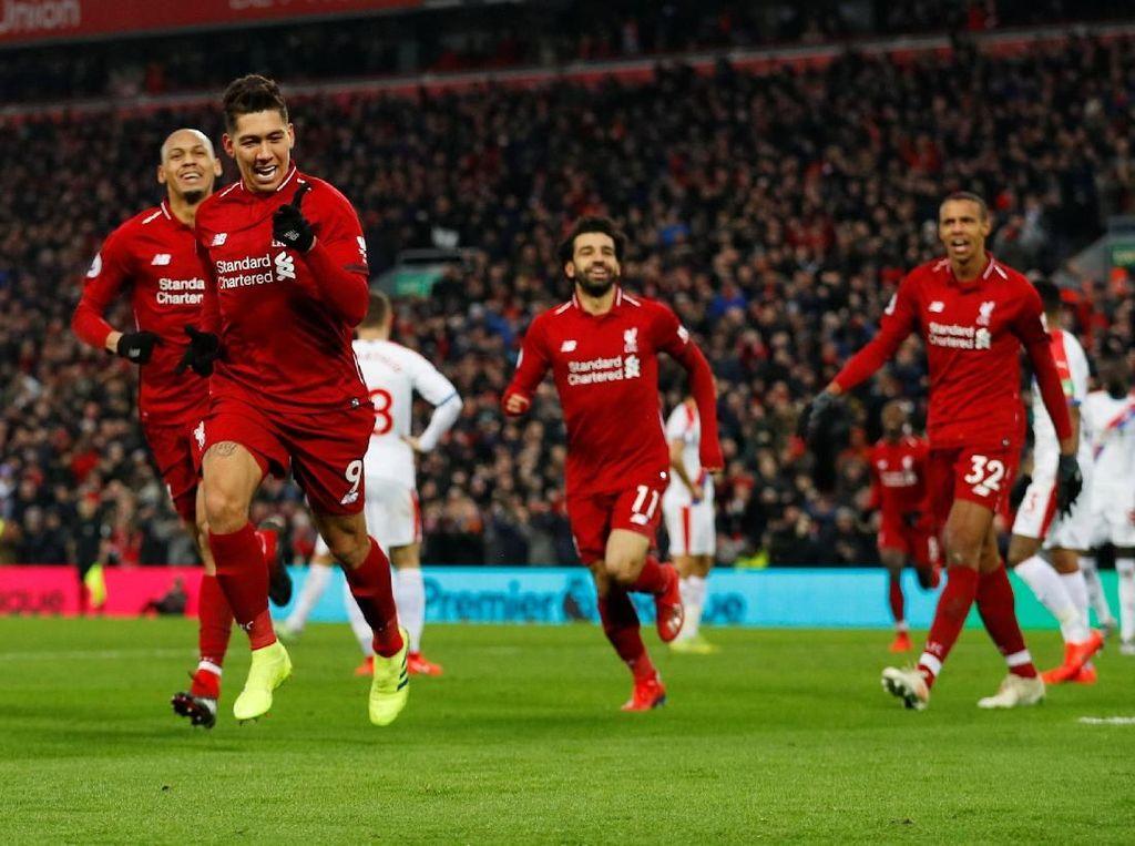 Hasil Liga Inggris: Liverpool Menangi Drama 7 Gol atas Palace