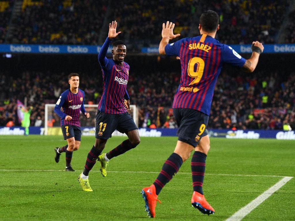 Hasil Liga Spanyol: Barcelona Belum Terbendung, Madrid Atasi Sevilla
