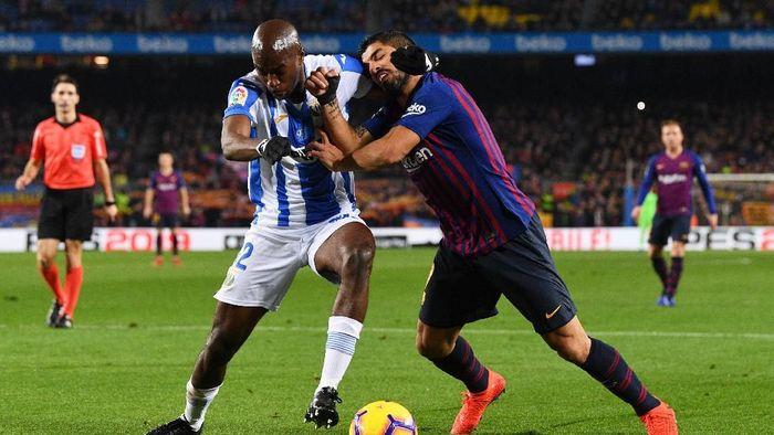 Barcelona menjamu Leganes di Camp Nou, Senin (21/1/2019) dinihari WIB di laga pekan ke-20 La Liga. Mengantisipasi keganasan tuan rumah, Leganes bermain dengan lima bek dan tiga gelandang di laga ini. (Foto: David Ramos/Getty Images)