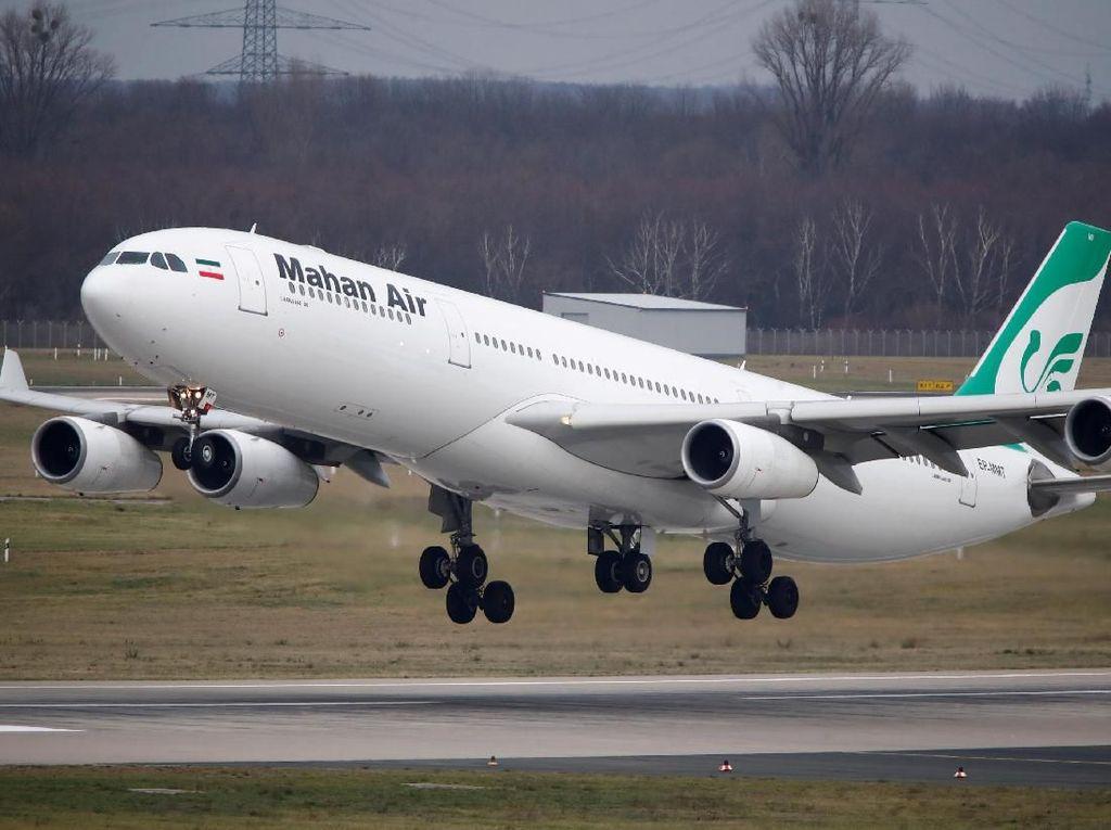 Pilot Iran Sebut Pesawat Mahan Air Dicegat 2 Jet Tempur AS di Atas Suriah