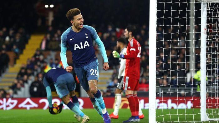 Tottenham Hotspur menang dramatis 2-1 atas Fulham. (Foto: Clive Rose/Getty Images)