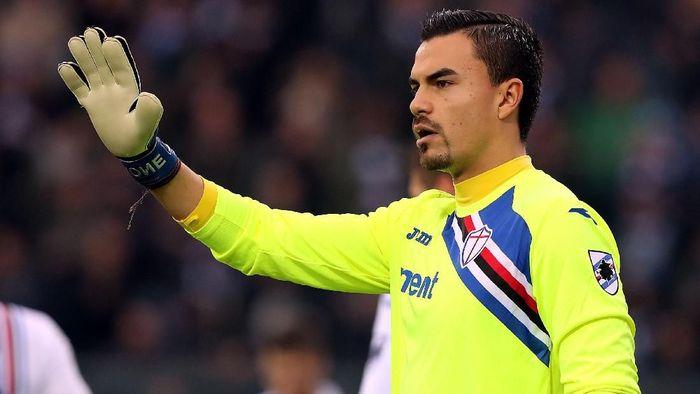 Kiper keturunan Indonesia yang bermain di Sampdoria, Emil Audero Mulyadi. (Foto: Gabriele Maltinti/Getty Images)
