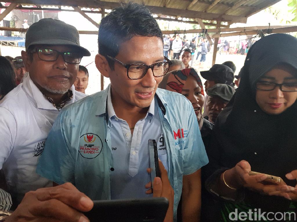 Sandi soal Hoax Luhut Siap Cium Kaki Prabowo: Jangan Bicara Isu Tak Penting