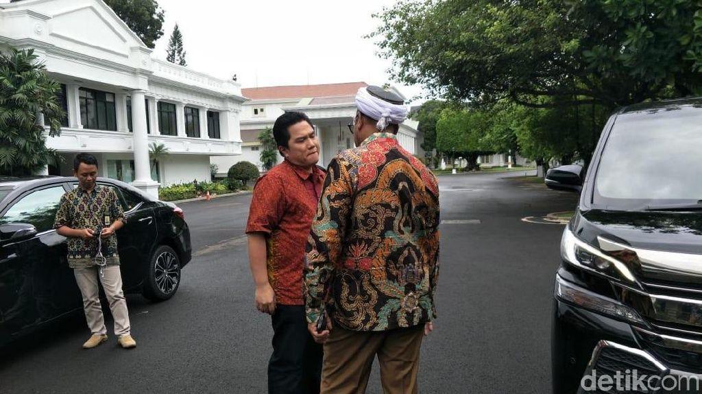 Erick Thohir Sambangi KSP, Minta Jadwal Jokowi Agar Tak Bentrok