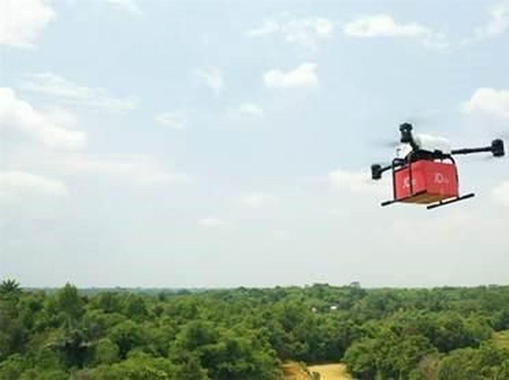 Drone untuk Kirim Barang Sukses Diuji Coba