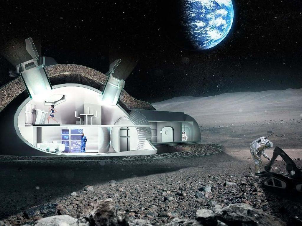 Beginikah Tempat Tinggal Manusia di Bulan?