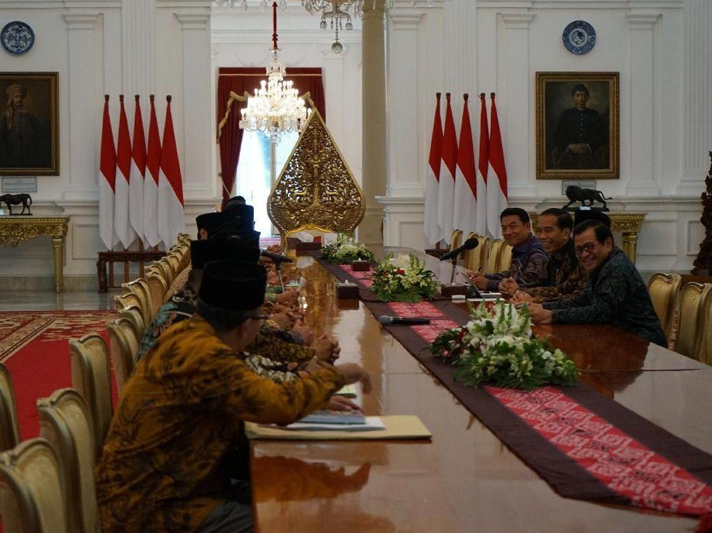 Bawa Ormas ke Istana, Said Aqil Doakan Jokowi Menang Pilpres