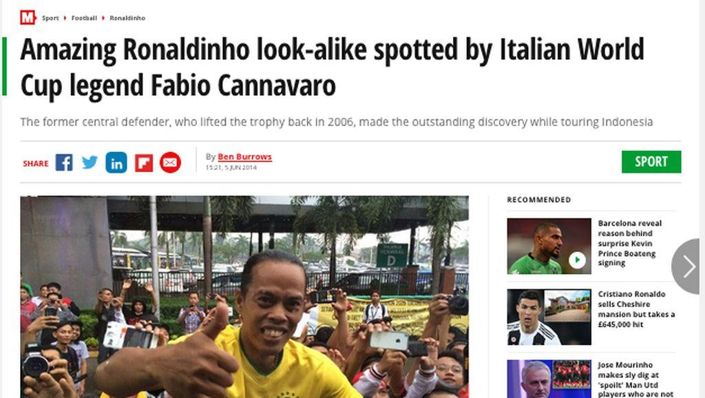 Ronaldikin, Ronaldinho Asli Bandung yang Sempat Mendunia