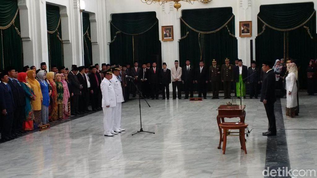 Lantik Bupati Garut, Ridwan Kamil: Jangan Salah Niat